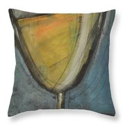 Glass Of White Throw Pillow by Tim Nyberg