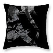 Gliding Throw Pillow by Naxart Studio