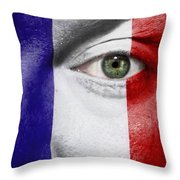 Go France Throw Pillow by Semmick Photo