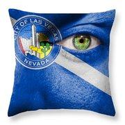 Go Las Vegas Throw Pillow by Semmick Photo