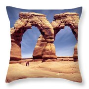 Golden Arches? Throw Pillow by Mike McGlothlen