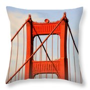 Golden Gate Bridge - Nothing Equals Its Majesty Throw Pillow by Christine Till
