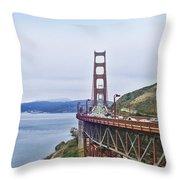 Golden Gate Bridge Throw Pillow by Betty LaRue