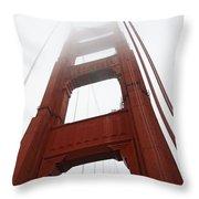 Golden Gate Bridge Throw Pillow by Cassie Marie Photography