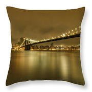 Golden Night Throw Pillow by Evelina Kremsdorf
