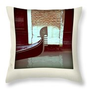 Gondola.venice.italy Throw Pillow by Bernard Jaubert