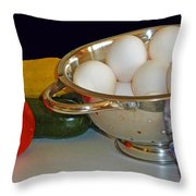 Good Food Throw Pillow by Methune Hively