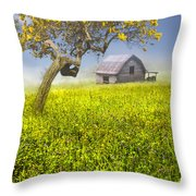 Good Morning Spring Throw Pillow by Debra and Dave Vanderlaan