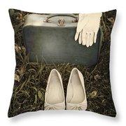 Goodbye Throw Pillow by Joana Kruse