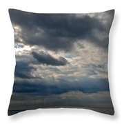 Gozo Skies Throw Pillow by Eric Tressler