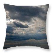 Gozo Skies Throw Pillow by Eric Tressler