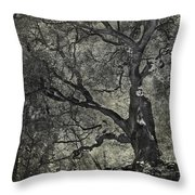 Grabbing Throw Pillow by Laurie Search