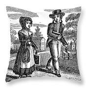 Grammar School Children Throw Pillow by Granger