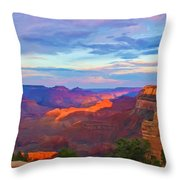 Grand Canyon Grand Sky Throw Pillow by Heidi Smith