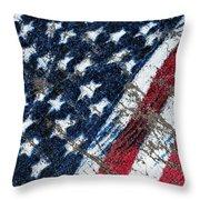 Grand Ol' Flag Throw Pillow by Bill Owen