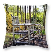Grandmas Country Chairs Throw Pillow by Athena Mckinzie