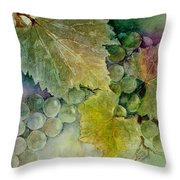Grapes II Throw Pillow by Judy Dodds
