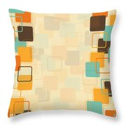 Graphic Square Pattern Throw Pillow by Setsiri Silapasuwanchai