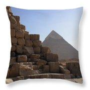 Great Pyramids Khafre Throw Pillow by Darcy Michaelchuk
