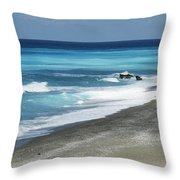 Greece, Lefkas Throw Pillow by Axiom Photographic