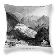 GREECE: SOULI, 1833 Throw Pillow by Granger