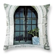 Greek Chapel Throw Pillow by Joana Kruse
