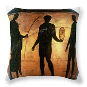 Greek Olympian Throw Pillow by Granger