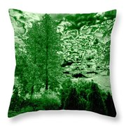 Green Zone Throw Pillow by Will Borden