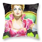 Greta Garbo Throw Pillow by Mel Thompson