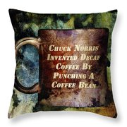 Gritty Chuck Norris 2 Throw Pillow by Angelina Vick