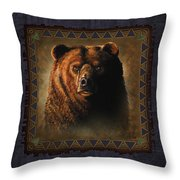 Grizzly Lodge Throw Pillow by JQ Licensing