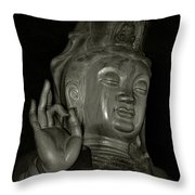 Guan Yin Bodhisattva - Goddess Of Compassion Throw Pillow by Christine Till