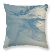 Gulf Of Mexico Oil Spill From Space Throw Pillow by NASA/Science Source