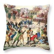 Haiti: Slave Revolt, 1791 Throw Pillow by Granger