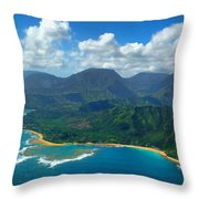 Hanalei Bay 2 Throw Pillow by Ken Smith