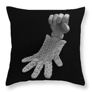 Hand And Glove Throw Pillow by Barbara St Jean