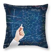 Hand Writing Science Formulas Throw Pillow by Setsiri Silapasuwanchai