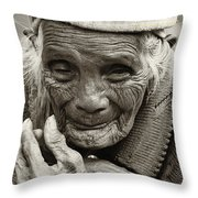 Hands Of Time Throw Pillow by Skip Nall