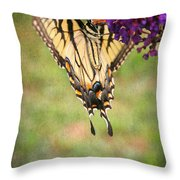 Hanging On Throw Pillow by Darren Fisher