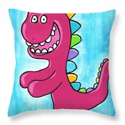 Happosaur Throw Pillow by Jera Sky