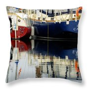 Harbor Reflections  Throw Pillow by Bob Christopher