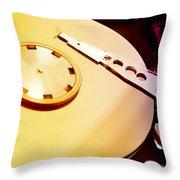 Hard Disk Detail Throw Pillow by Fabrizio Troiani