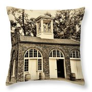 Harpers Ferry Armory Throw Pillow by Bill Cannon