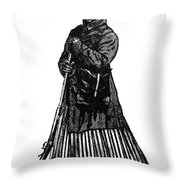 HARRIET TUBMAN (c1823-1913) Throw Pillow by Granger