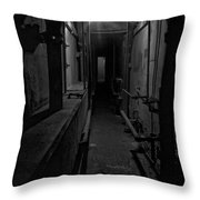 Haunted 1946 Battle Of Alcatraz Death Chamber Throw Pillow by Daniel Hagerman