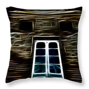 Haunted House Throw Pillow by Cheryl Young