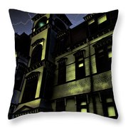 Haunted House Throw Pillow by Mark Sellers