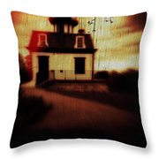Haunted Lighthouse Throw Pillow by Edward Fielding