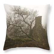 Haunted Throw Pillow by Sophie De Roumanie