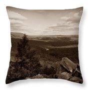 Hawk Mountain Sanctuary S Throw Pillow by David Dehner